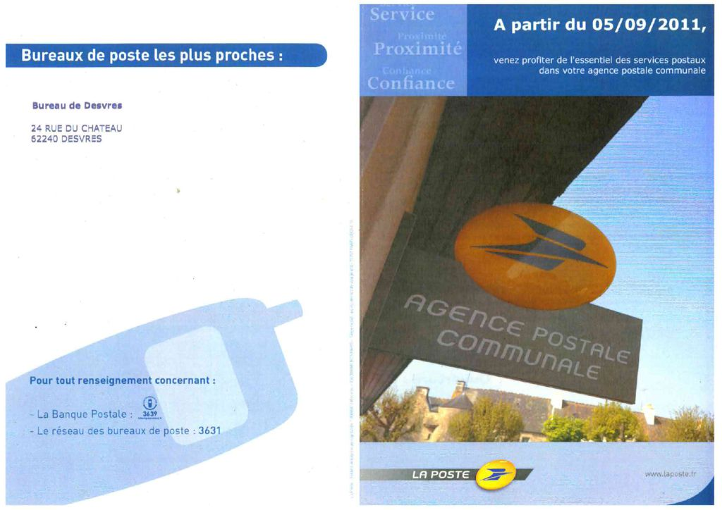 thumbnail of AGENCE POSTALE COMMUNALE