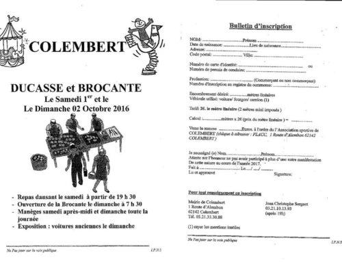 Samedi 1er et Dimanche 2 Octobre : Ducasse et Brocante