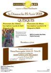 Aidons NOAH : QUESQUES le Dimanche 19 Août