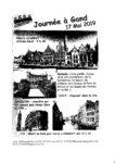 17 Mai 2019 : Journée à Gand proposée par le PEPS