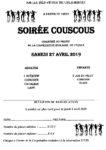 Samedi 27 Avril 2019 : Soirée Couscous